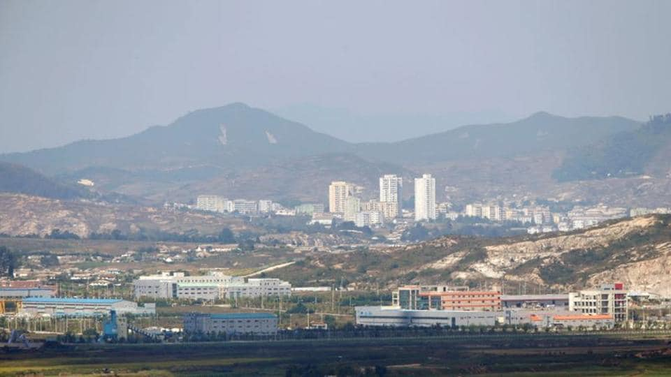 Kaesong city is seen across the demilitarised zone (DMZ) separating North Korea from South Korea in this picture taken from Dora observatory in Paju, 55 km (34 miles) north of Seoul.