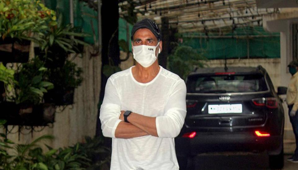 Bollywood actor Akshay Kumar spotted at Juhu.