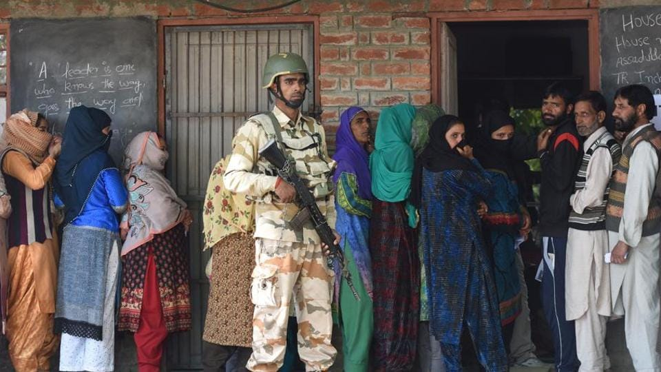 The turnout in the  2019 Lok Sabha elections in the Kashmir valley dropped to 19%, the lowest in two decades and 12 percentage points less than in the 2014 Lok Sabha polls.