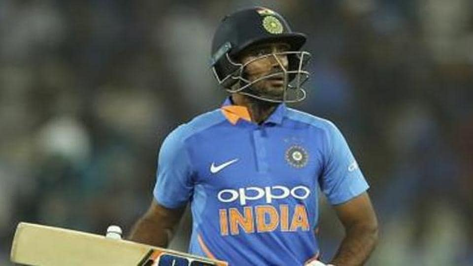 India's Ambati Rayudu leaves the field after his dismissal by Australia's Adam Zampa during the first one day international cricket match between India and Australia, in Hyderabad.