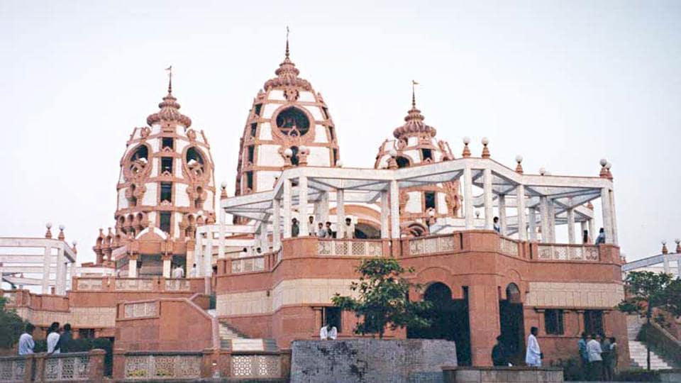 Preparations underway at the ISKCON Temple in Delhi ahead of Krishna Janmashtami.
