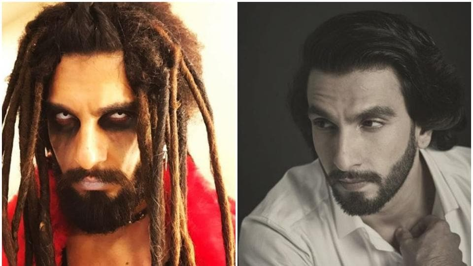 Ranveer Singh tends to be out there with his looks.