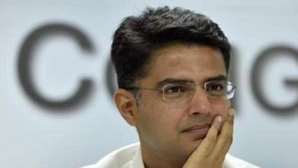 Former Rajasthan Congress chief Sachin Pilot looks on during a press conference on at AICC headquarters in New Delhi in this file photo. Pilot ended his rebellion after meeting party leader  Rahul Gandhi on Monday.