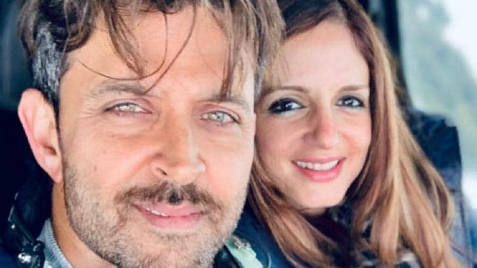 Hrithik Roshan with his ex-wife Sussanne Khan.