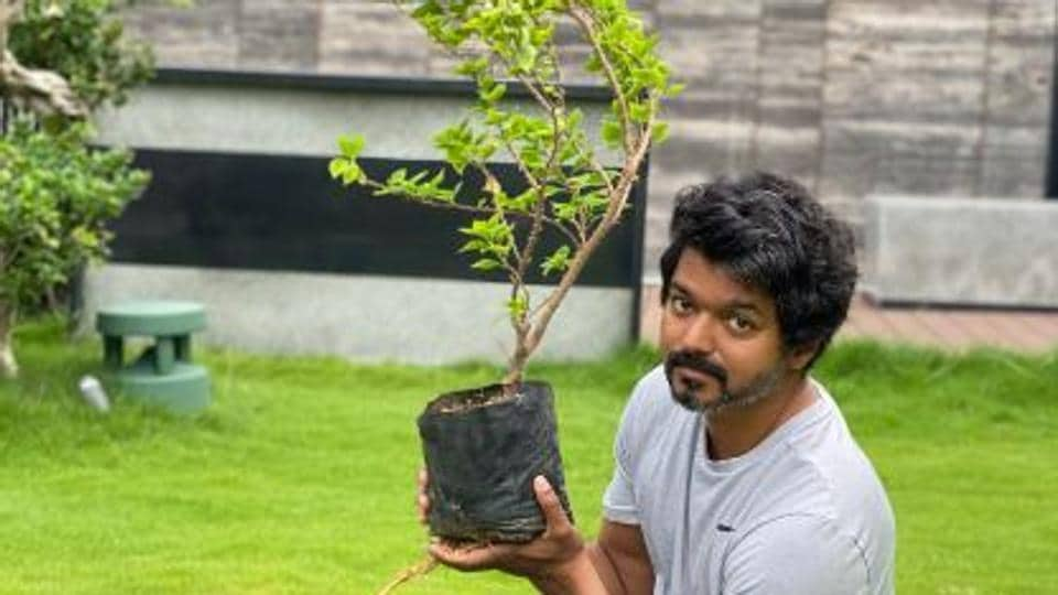 Vijay posted pictures on Twitter.