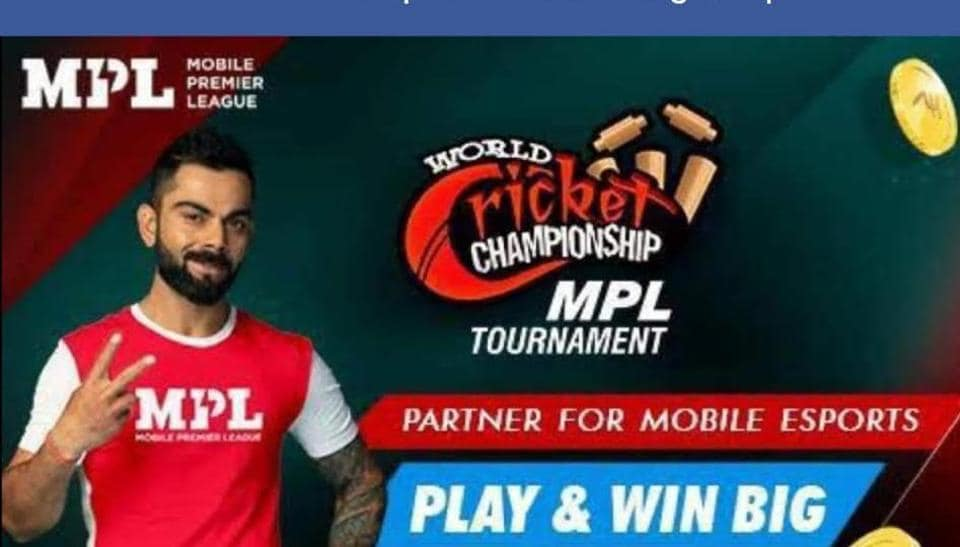 Unauthorised cricket league using Virat Kohli image.