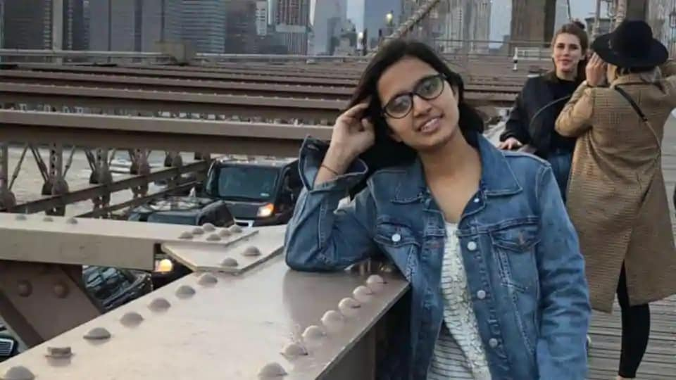 Sudeeksha Bhati died after the motorcycle on which she was riding pillion crashed into another bike near Aurangabad town of Bulandshahr district on Monday.