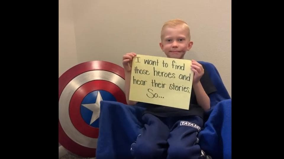 Bridger, the boy who saved his sister from a dog attack, posts a challenge. You may want to participate