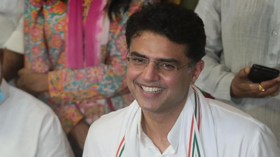 Former deputy chief minister of Rajasthan Sachin Pilot during a media interaction after his arrival from Delhi, at his residence in Jaipur on Tuesday.