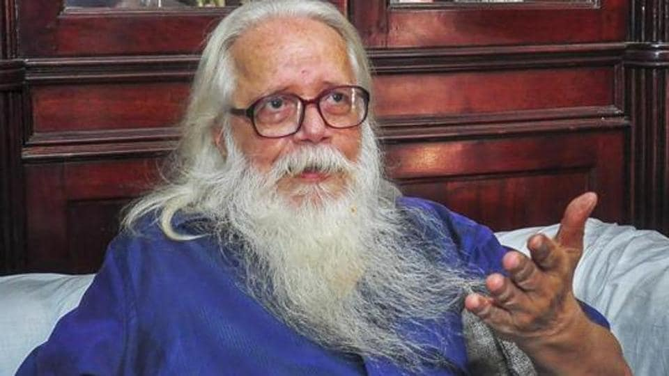 Former ISRO scientist Nambi Narayanan speaks to media, in Thiruvananthapuram.