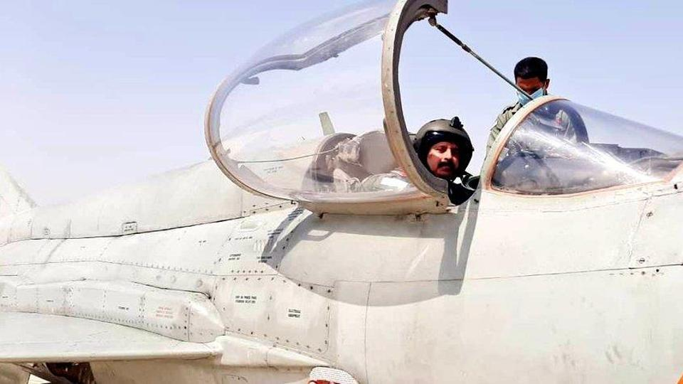 IAF chief RKS Bhadauria flew a MiG-21 Bison fighter aircraft on Thursday.