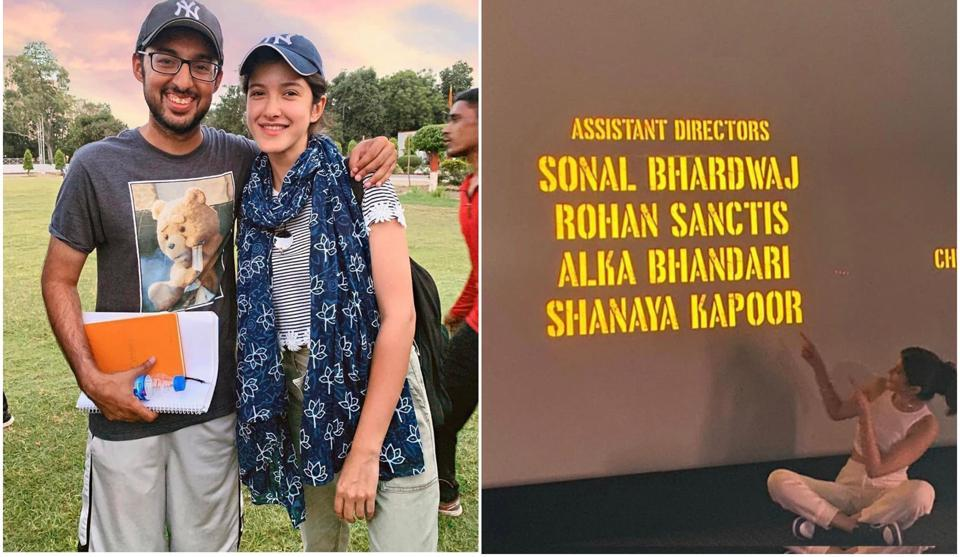 Shanaya Kapoor Makes Debut As Assistant Director With Gunjan Saxena The Kargil Girl Proud Dad Sanjay Kapoor Showers Love Bollywood Hindustan Times