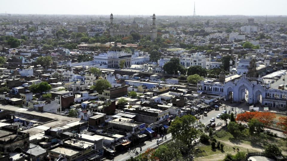 Aerial view of Lucknow City.