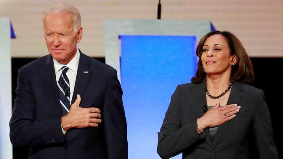 Kamala Harris promises jobs, affordable care act as part of Biden administration