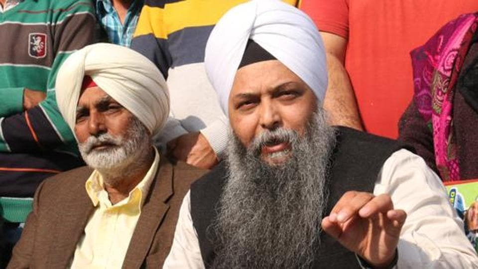 Jarnail Singh ( in the foreground) unsuccessfully contested from the Lambi assembly  constituency  in  Punjab in  2017.