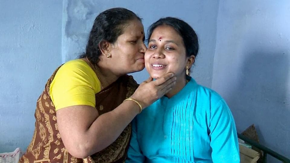 Purana Sunthari, with her mother in Madurai.