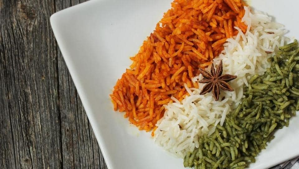 Dishes inspired by the Tricolour, such as Tiranga Pulao, are common around Independence Day and Republic Day.