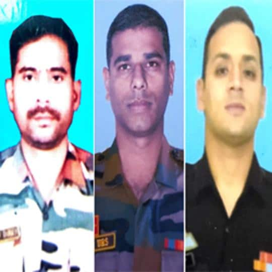 All three were posted in Jammu and Kashmir during incidents for which they have been given the Shaurya Chakra.