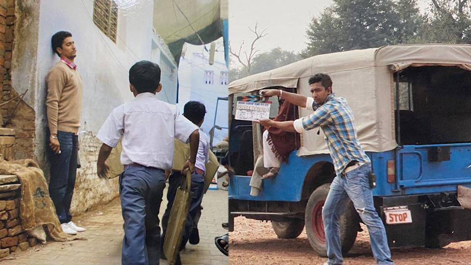 Vicky Kaushal on the sets of Gangs of Wasseypur.