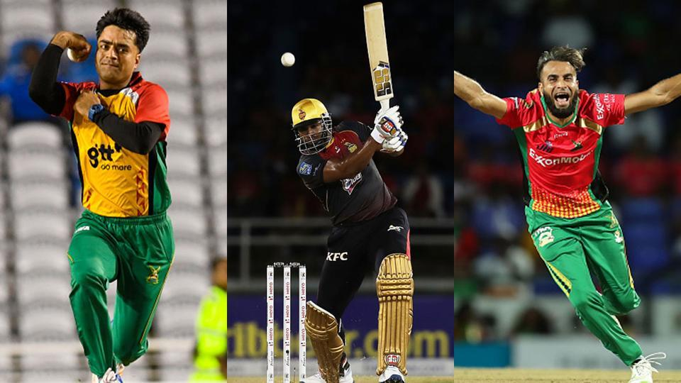 Rashid Khan, Kieron Pollard and Imran Tahir will enter the IPL with the experience of having played the CPL.