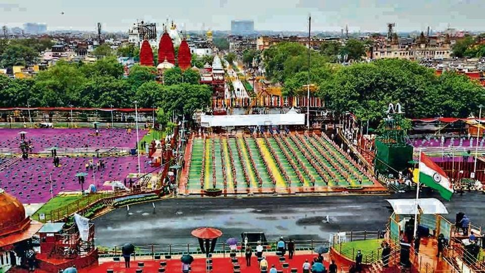 Preparations for the 74th Independence Day celebrations at Red Fort have been completed.