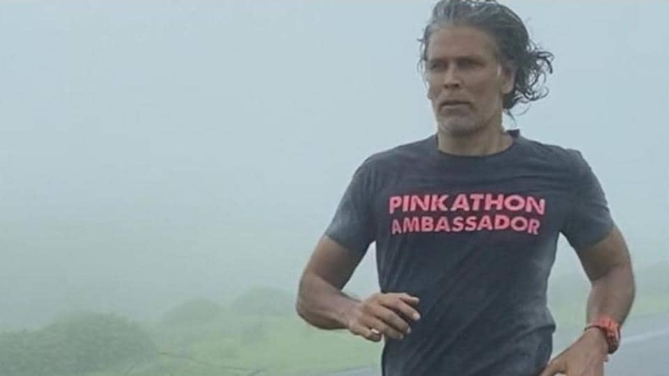 Milind Soman and rain on the hills, it doesn't get better!