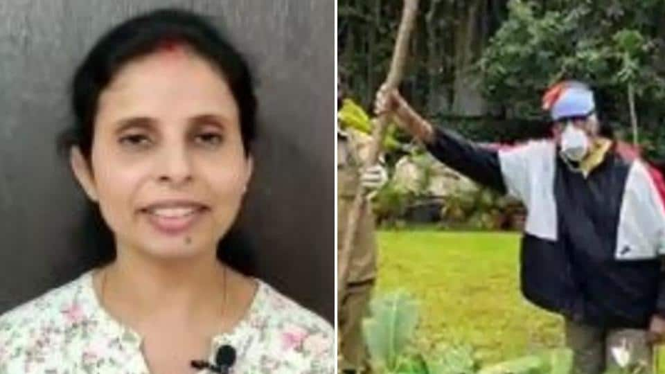 Amitabh Bachchan planted a sapling in his mother's memory while Gunjan Saxena thanked IAF.