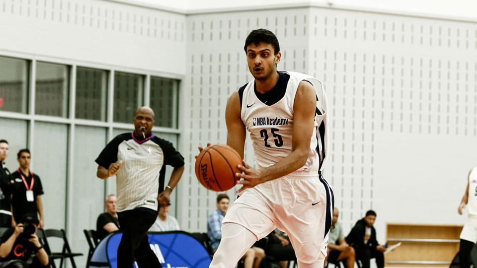 Princepal Singh drives during the game as part of NBA Academy on July 11, 2019 at Emory Healthcare Courts in Atlanta, Georgia.