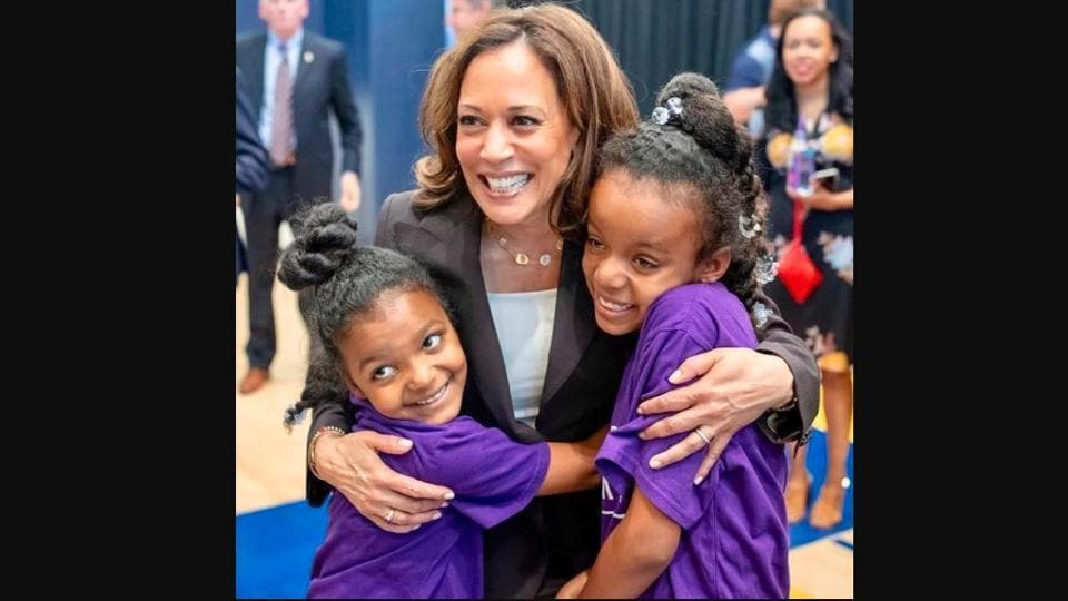 An image of Kamala Harris shared by Michelle Obama.