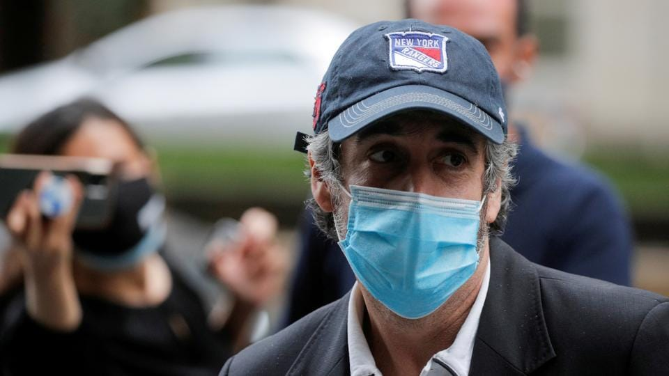 Michael Cohen, former personal lawyer for US President Donald Trump, arrives at his Manhattan apartment after being released from federal prison to serve the remainder of his sentence under home confinement in New York City, New York US.