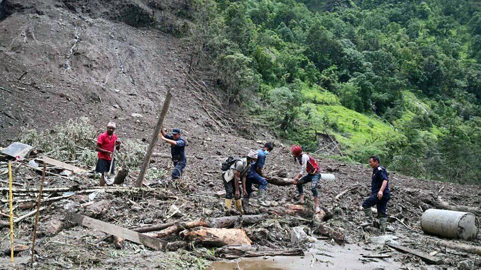 Five dead, 38 missing after torrential rain causes landslide in Nepal