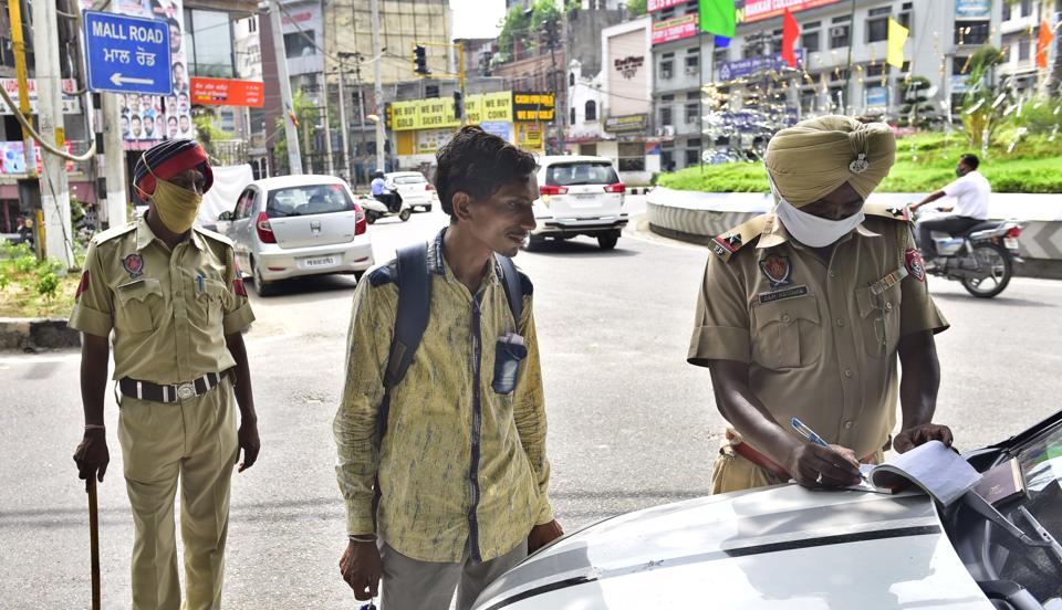 Since August 9, police has started punishing violators by making them stand in a corner for up to an hour, besides the usual Rs 500 fine.