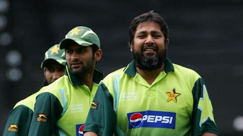 Inzamam Ul-Haq of Pakistan looks on during a Pakistan nets session.
