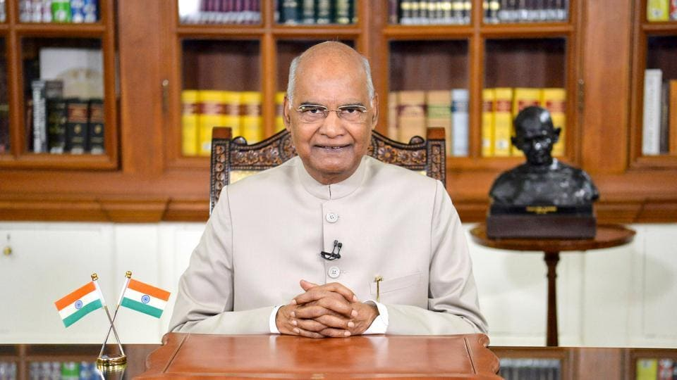 President Ram Nath Kovind addresses the nation on the eve of 74th Independence Day in New Delhi.
