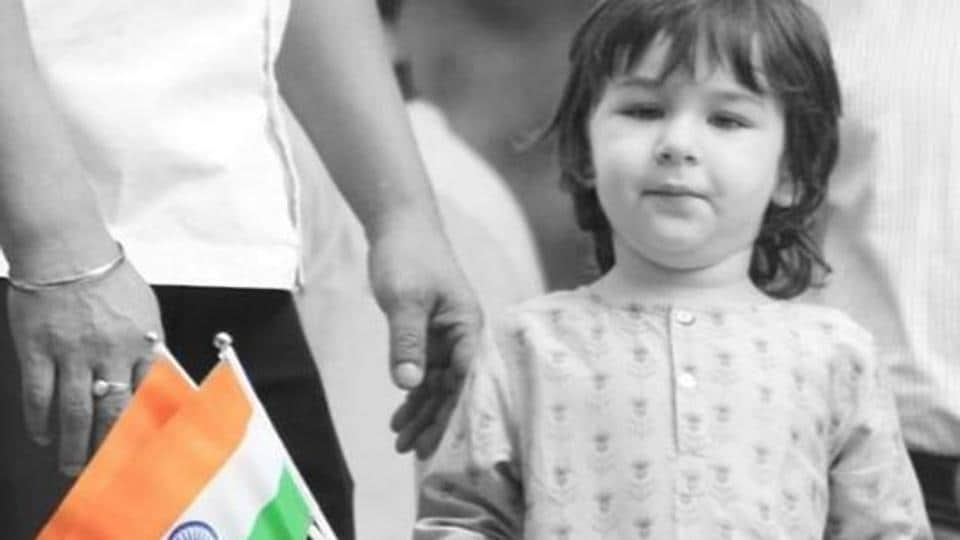 Taimur Ali Khan celebrated India's 74th Independence Day in Mumbai. Kareena Kapoor shared a picture, too.