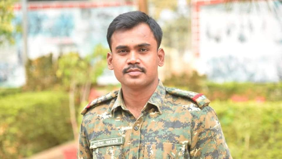 Rajesh Khandwe has won the President's medal for gallantry twice since becoming a police officer in 2015.