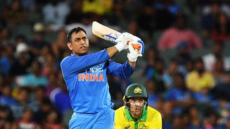 MS Dhoni of India bats during game two of the One Day International series between Australia and India at Adelaide Oval on January 15, 2019 in Adelaide, Australia.