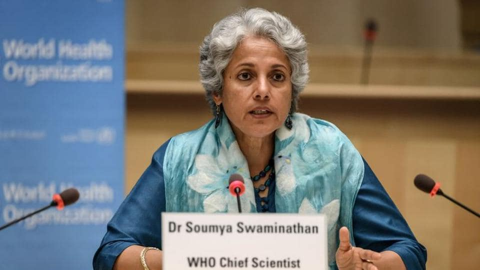 World Health Organization (WHO) Chief Scientist Soumya Swaminathan attends a press conference organised by the Geneva Association of United Nations Correspondents (ACANU) amid the Covid-19 outbreak.