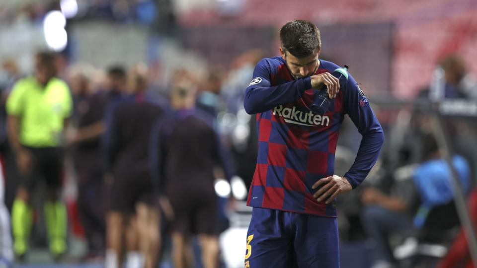 'We have hit rock bottom': Gerard Pique embarrassed as Barcelona suffer 8-2 humiliation by Bayern