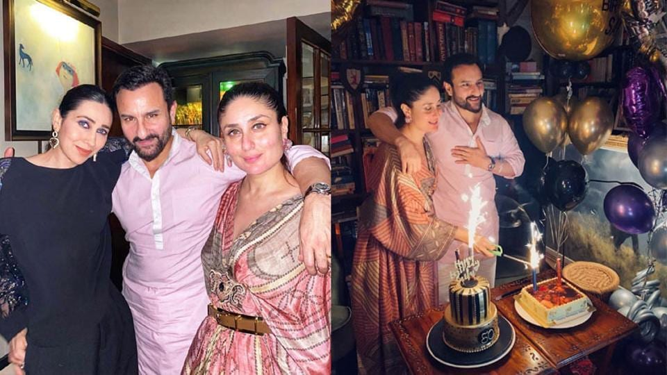 Saif Ali Khan celebrates his 50th birthday with family and friends.