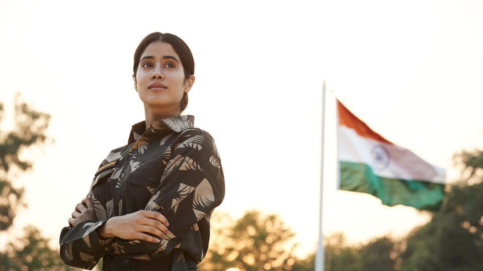 Janhvi Kapoor in a still from Gunjan Saxena: The Kargil Girl.