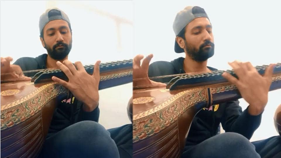 Vicky Kaushal has shared a video of him playing the veena.