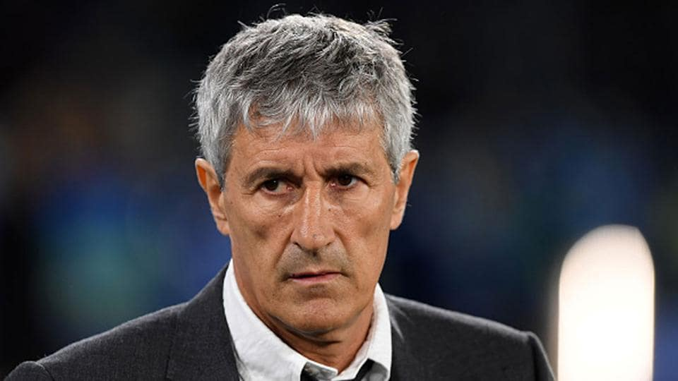 Quique Setien was fired only after seven months with the club.