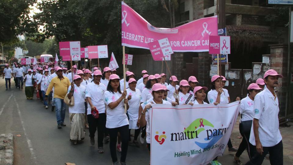Cancer awareness rally in Dombivli organised by Gopal Charitable Trust , Anil Cancer Clinic & Anil Eye Hospital in February 2020.