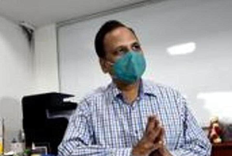 Delhi health minister Satyendar Jain is seen in this file photo. Jain said that the coronavirus pandemic situation in Delhi is under control.