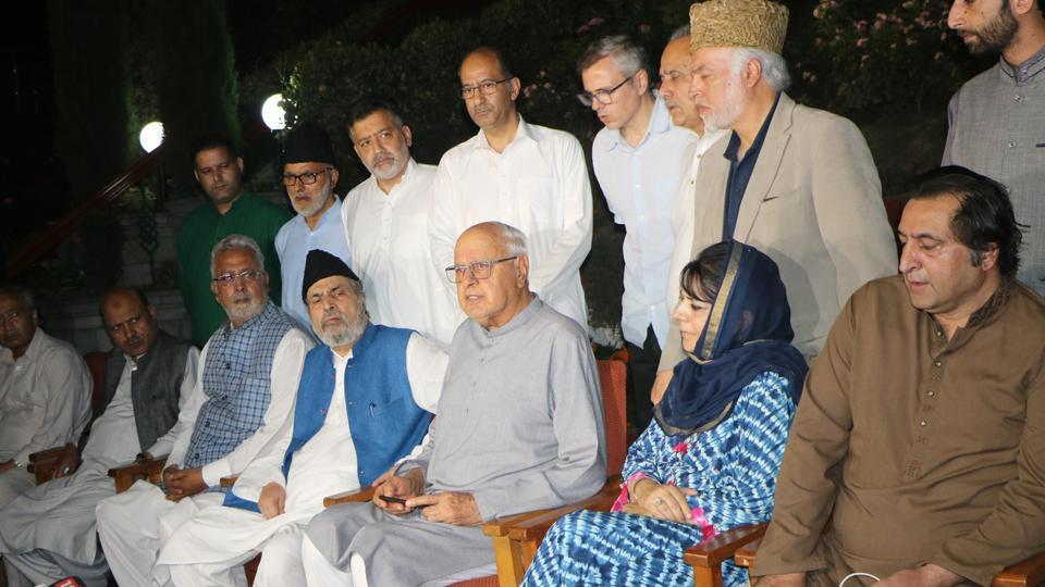 Leaders of the mainstream political parties in Kashmir have signed a joint statement.