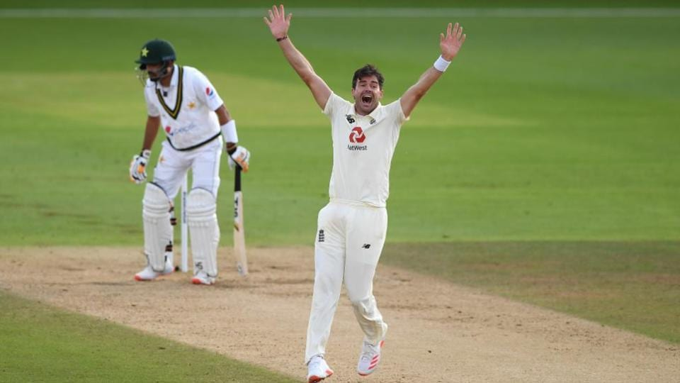 James Anderson appeals successfully against Babar Azam
