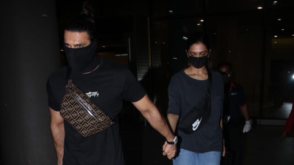 Deepika Padukone, Ranveer Singh return to Mumbai after visiting her parents in Bengaluru. See pics, video – bollywood