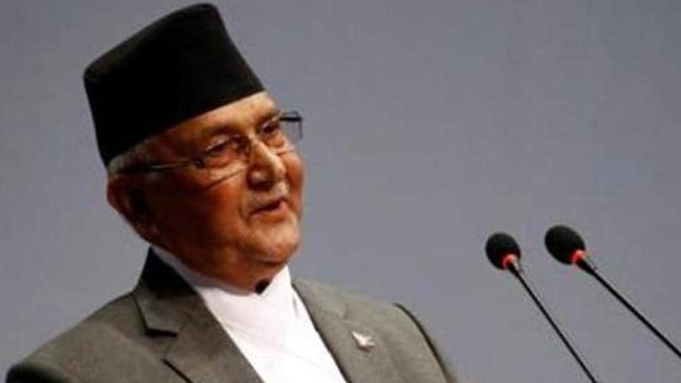 Nepal's Prime Minister Khadga Prasad Sharma Oli.