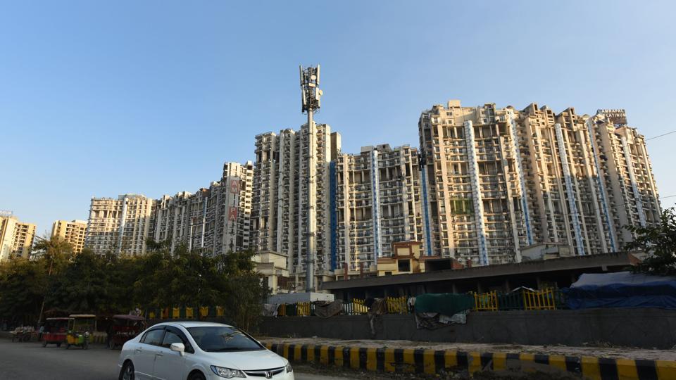 A view of Amrapali Platinium at sector 120, Noida.